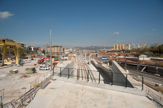 Salida tunel La Sagrera-Sants_Montaje vias AVE 1