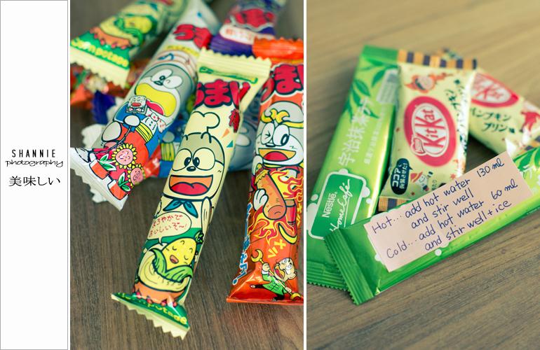 宇治抹茶やキトカトなどがあります Crackers, Kit Kat and Uji Matcha were found in the package