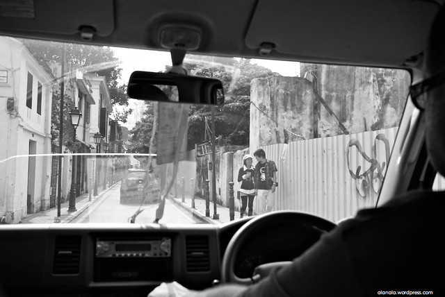Arriving streets of Macau