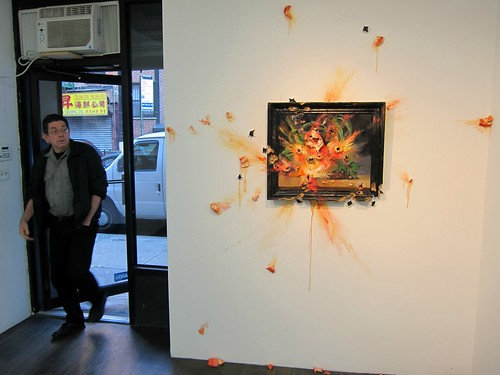 Valerie Hegarty: Exploding Peaches, at Nicelle Beauchene by Scoboco