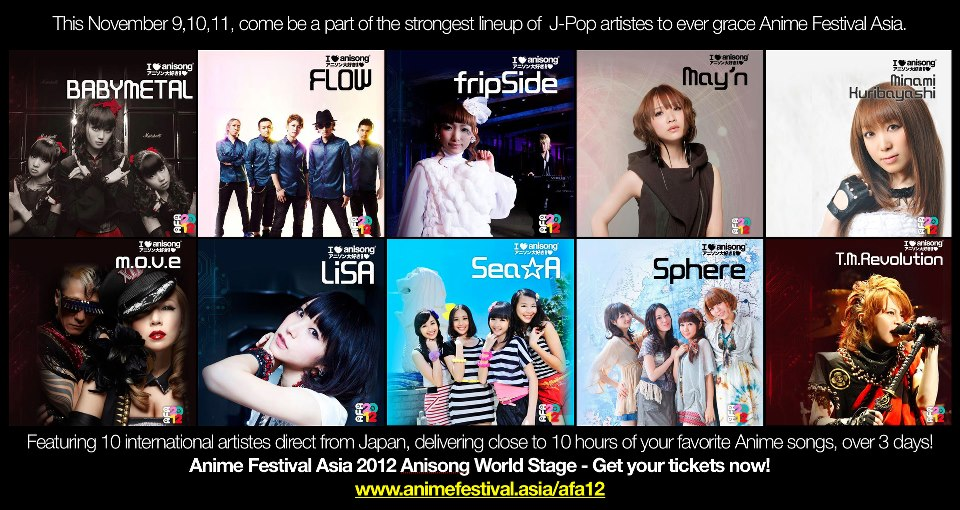 Electric Groove Anisong World Stage Anime Festival Asia 2012