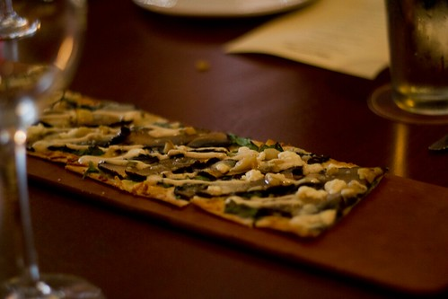 portobello mushroom flatbread