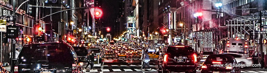 Manhattan Traffic by Dirk Paessler