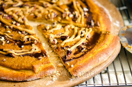 A twist on your regular pizza pie, with a subtly sweet crust, pumpkin, chocolate, and much more, this Sweet Pumpkin Pizza is a great fall treat!