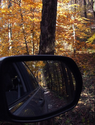 Plummer's Hollow in the rear-view mirror