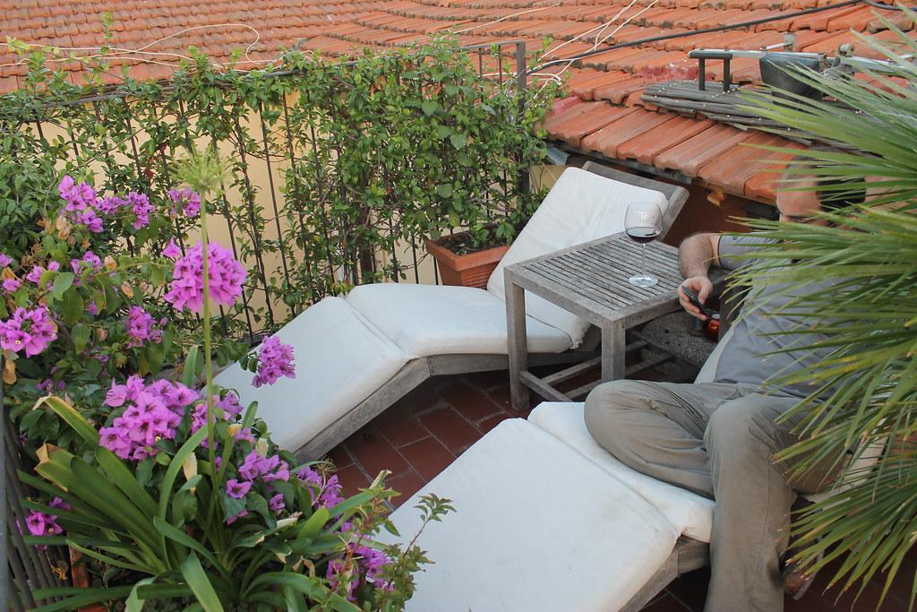 Apartamento en Roma: terraza en el Trastevere