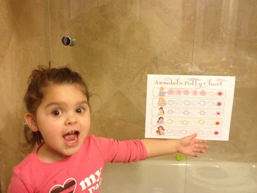 Proud of her potty chart