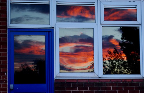 20120711-38_Reflected Glory - Distorted Sunset in windows by gary.hadden