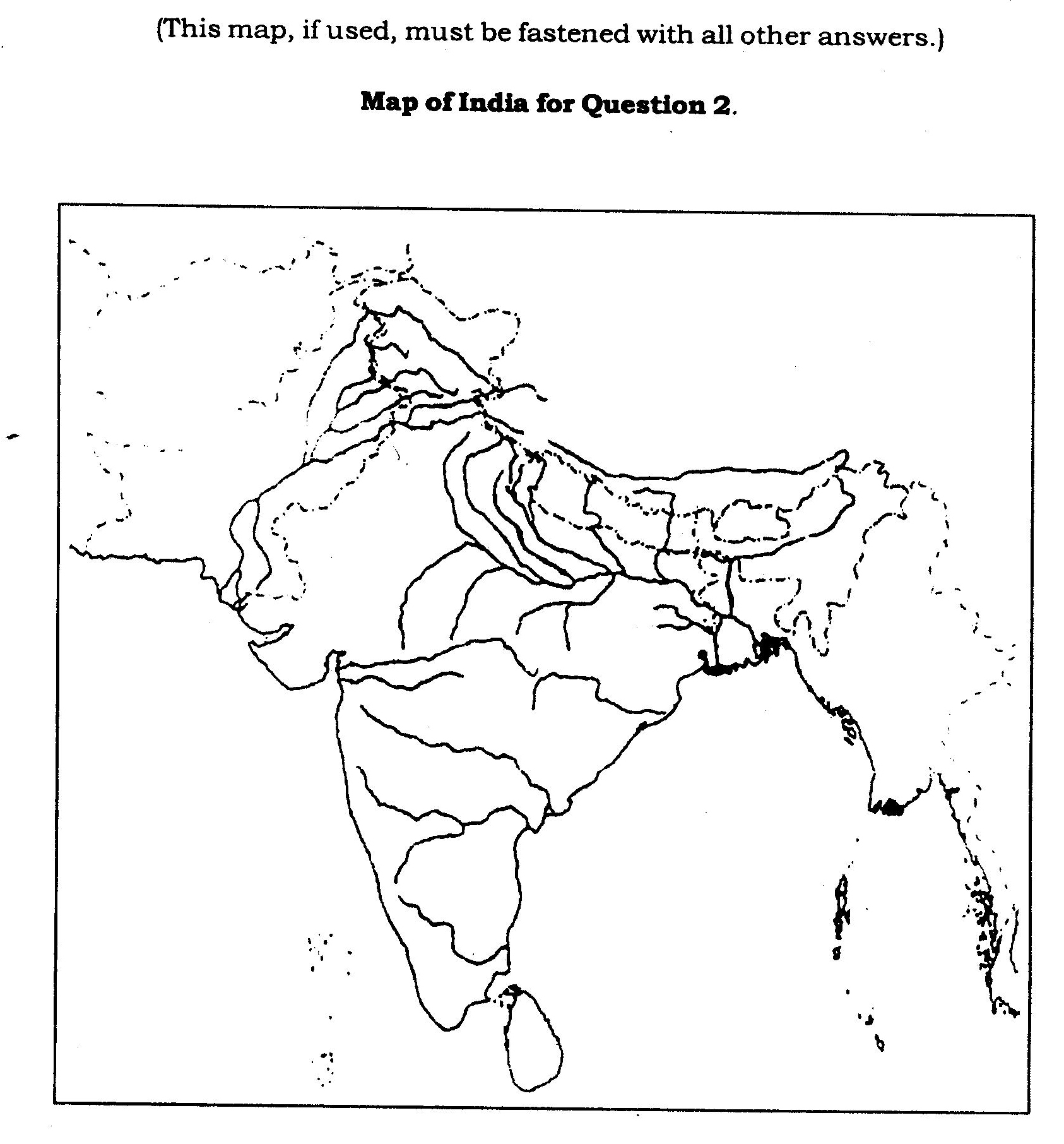 ICSE Class X Exam Question Papers 2012: Geography (H.C.G