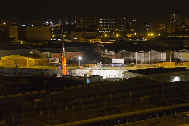 Demolición de la última pasarela de peatones en Triangle Ferroviari - 23-10-12