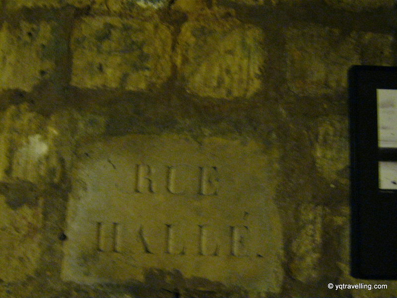 Underneath Rue Hallé