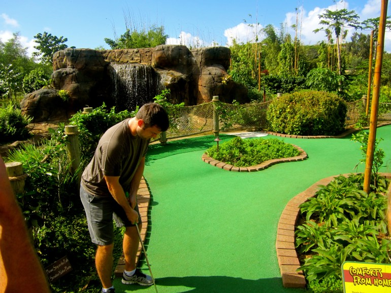 Putt away at Kauai Mini Golf & Botanical Gardens