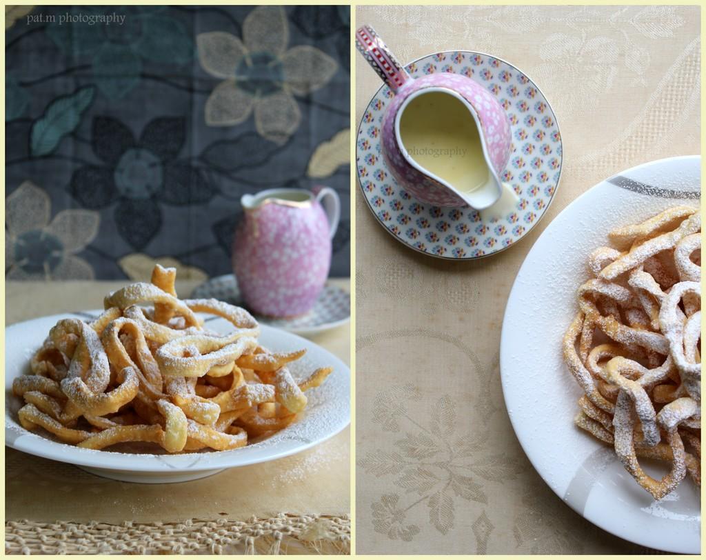 Tagliolini all'arancia con crema di cioccolato bianco alla vaniglia