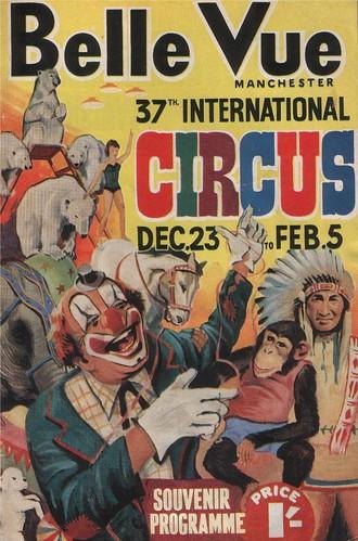Belle Vue circus programme, n.d.