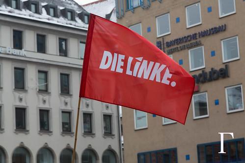 Die linke Flag