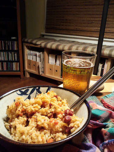 fried rice and beer