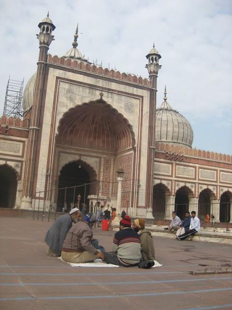 Phebe's CNY was spent at Jama Masjid in Delhi