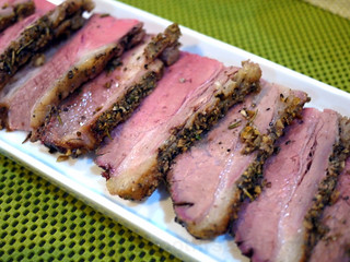 slow roasted beef belly