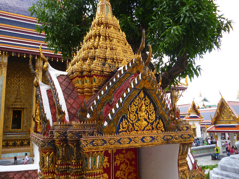 Intricate shrine at Bangkok's Grand Palace