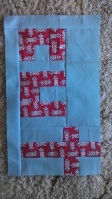 Leona's block for July sew & bee-happy