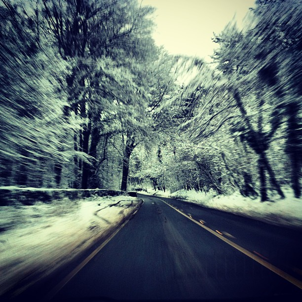 #failand #bristol #driving #instagram #photography #snow #trees #cold #icy #fast #speed #motion #blur