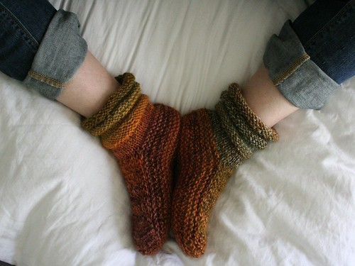 knitted :: handspun Mukluk Slippers