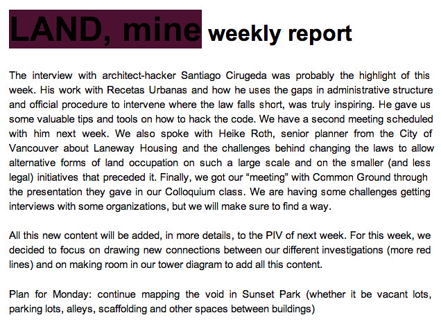 Weekly Report + PIV