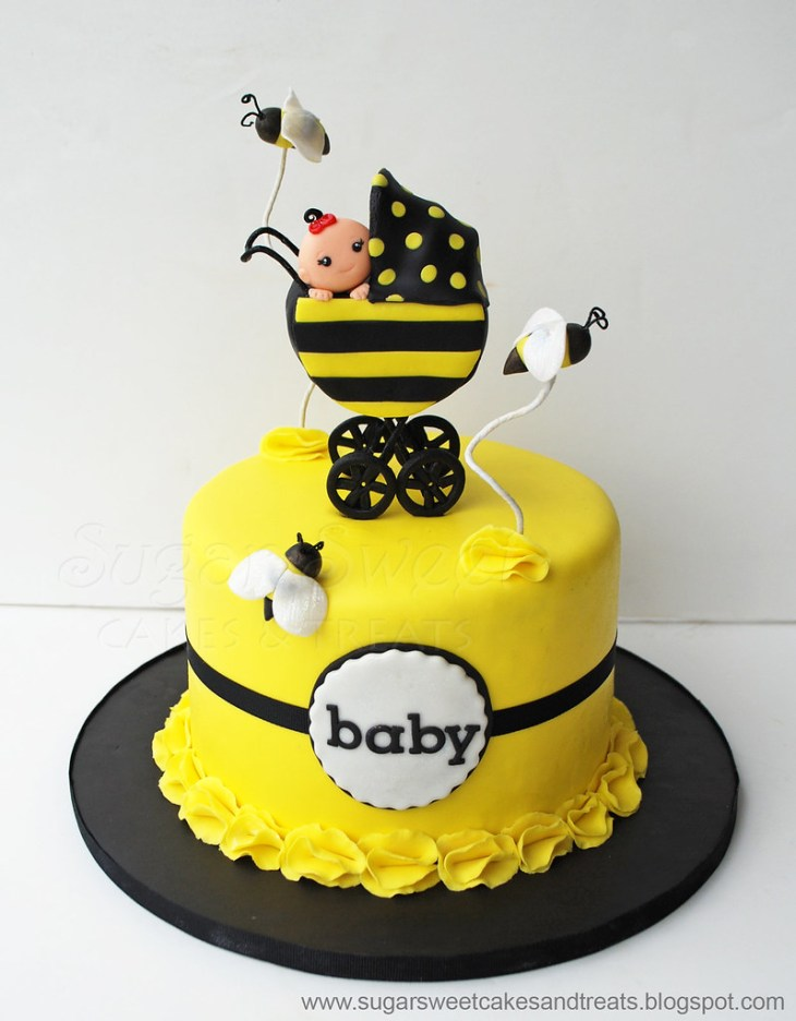... Bumble Bee Baby Shower Cake | by SugarSweetCakes (Angela)