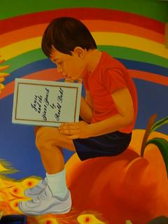 Detail from Children's Room Mural by Yetti Frenkel