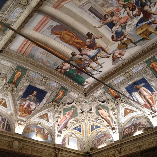 Ceilings at Palazzo Meridiana for opening party of #tbe12. How impressive are they?!
