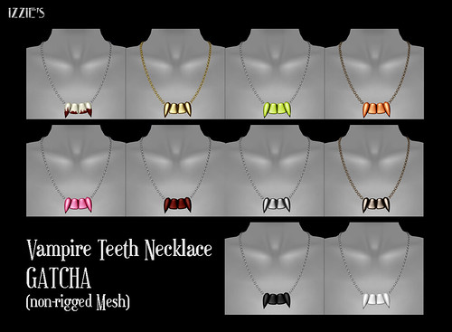 Vampire Teeth Necklace Gatcha