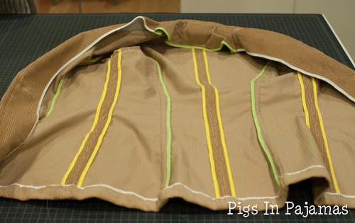 Jacket inside finish