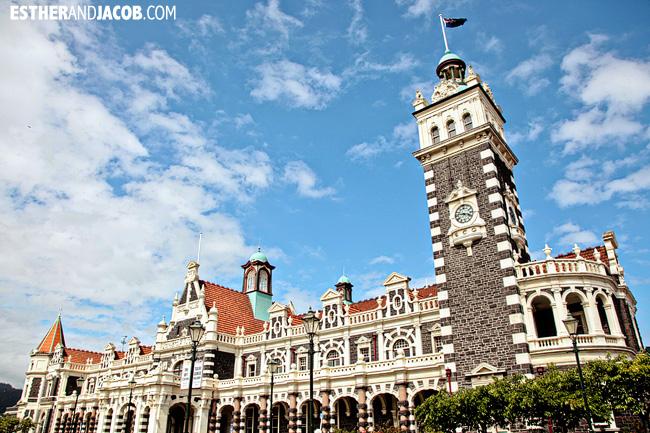Dunedin Railway Station | Day 2 New Zealand Contiki Tour | Lake Ohau to Dunedin| A Guide to South Island