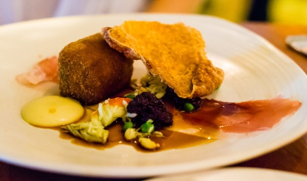 4Fourteen braised crumbed pig's tail