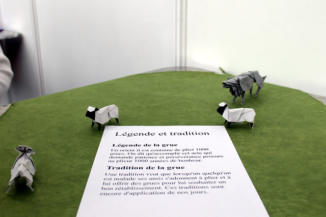 Origami Wolf and Sheep