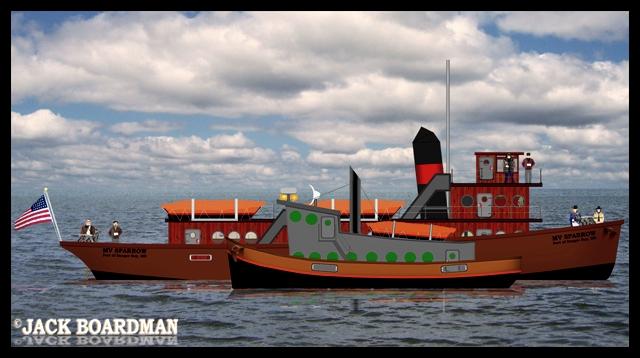 MV Sparrow alongside the casino boat