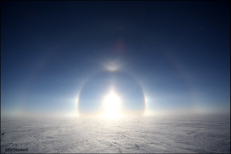 Greenland Halos and Arcs
