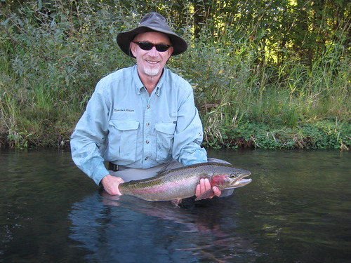 Jeff Lynn with Willamette River Steelhead