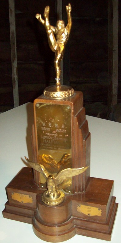 1948 GATOR BOWL MVP TROPHY - Lu Gambino of Maryland
