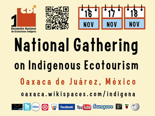 Nov 16-18 Indigenous Tourism in Oaxaca, Mexico @ecoturismoCDI