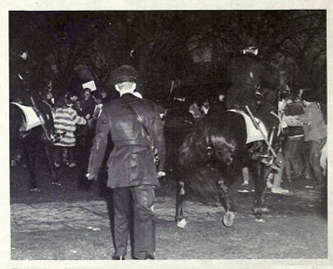 Police on Horseback Move Anti-Agnew Protestors: 1969