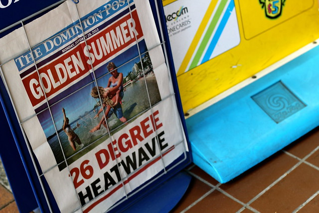 Monday: I love that 26C (78F) is a 'heatwave' in Wellington