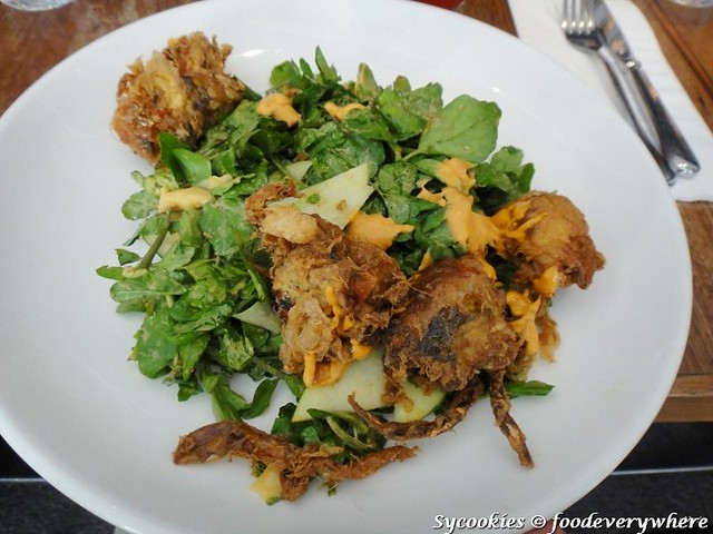 2.Soft-Shell Crab Salad with crunchy green apples, watercress, cucumber and harissa mayo RM 20 @ Plan B