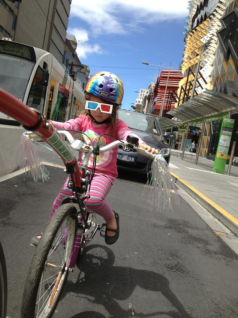 Daddy, why is there a car following me up the bike lane?