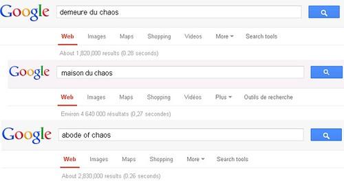 thierry Ehrmann sonde Google sur la Demeure du Chaos