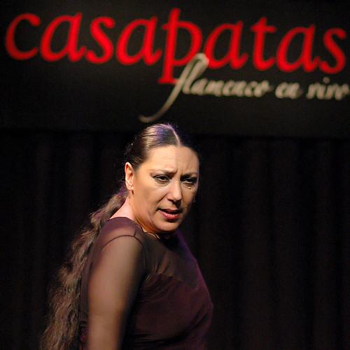 Lola Greco en el Tablao de Casa Patas. Foto: Martín Guerrero.