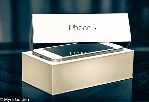 iPhone 5 by Myra Golden