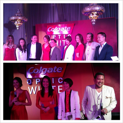 Colgate execs with the Colage Optic White Style Sqad