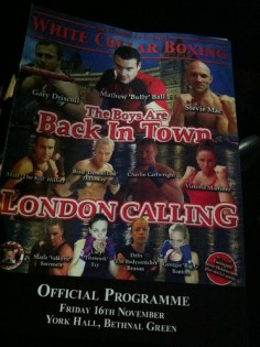 London Calling White Collar Boxing Programme