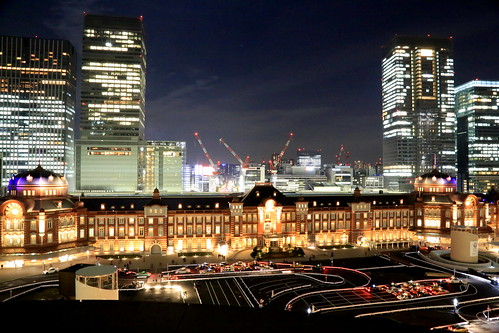 New Old Tokyo Station Night View